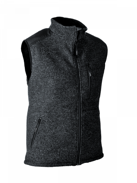 Pfanner gilet Wooltec grigio/nero
