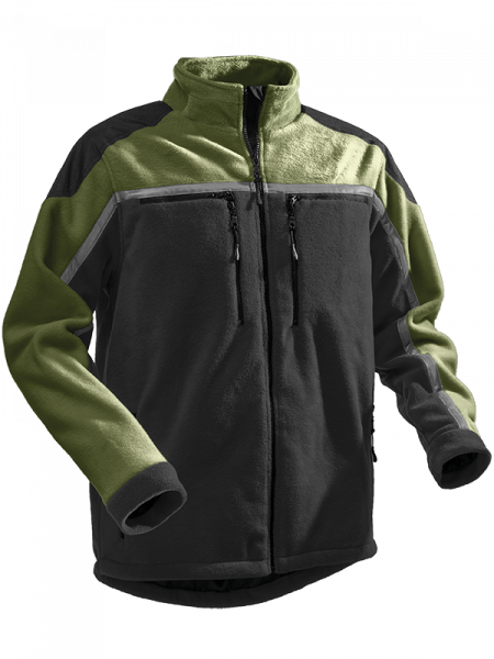 Pfanner giacca in pile Jobby® Colour nero/verde