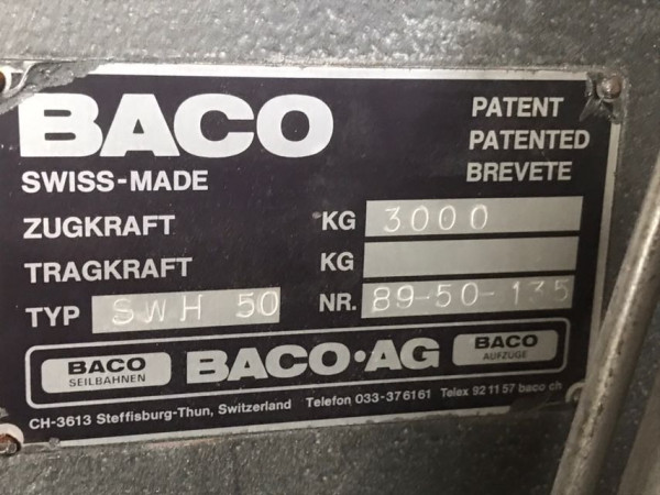 Schlittenwinde Baco SWH50