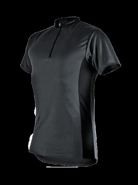 Pfanner Zipp-Neck Shirt manica corta nero