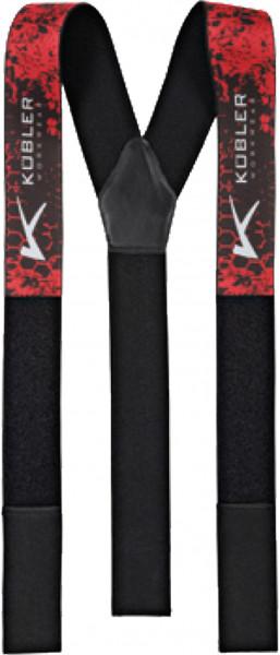 Kübler bretelle FORM 8750 rosso/nero