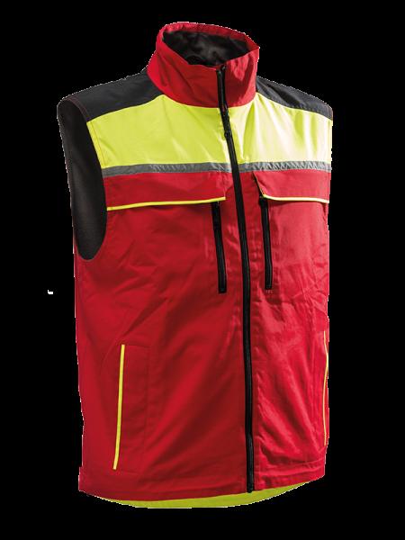 Pfanner Jobby® Colour Bodywärmer rot/neongelb