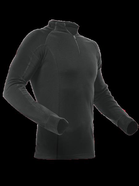 Pfanner maglietta a manica lunga Merino-Modal nero