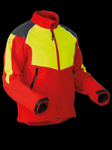 Pfanner StretchAIR® Schnittschutzjacke rot/neongelb