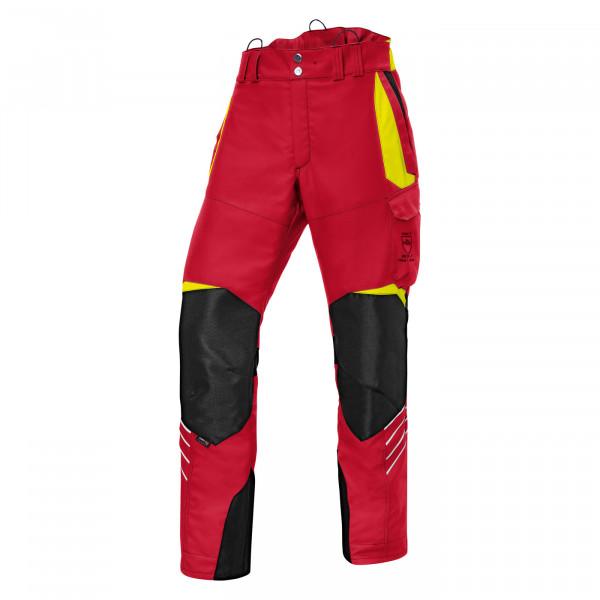 Kübler pantalone antitaglio Forest 1750 rosso/giallo neon