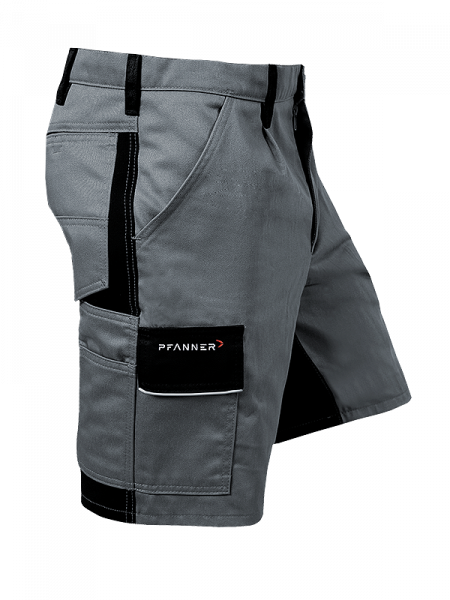 Pfanner StretchZone® Canvas Shorts grau/schwarz